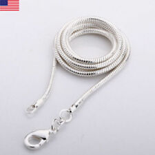 "Sterling Silver SNAKE Chain Necklace 1mm 925 Italy 16"", 18"", 20"", 22"", 24""  NEW"