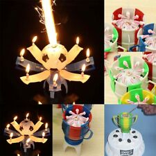Cake Topper Birthday Lotus Flower Soccer Football Decor Candle Blossom Musical