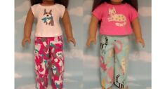 """Pajamas handmade for 18"""" American Girl Doll to fit 18 inch Doll Clothes 309ab"""