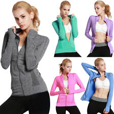 Women Gym Fitness Running Sports Coat Jogging Yoga Zip-up Jacket Quick-dry Cloth