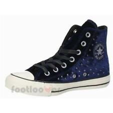 Converse All Star CT Hi 558993C womens eclipse blue sneakers velvet studs casual