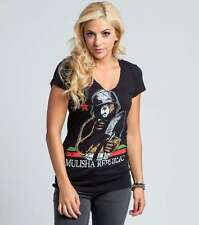 Metal Mulisha Maidens Only You V-Neck Tee Graphic T-Shirt