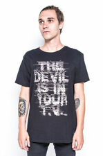 Iron Fist Devil Vision Tee Mens Graphic The Devil Is In Your TV Black T-shirt