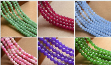 6/8/10MM Natural Smooth Jade /Agate /Emerald Round Gemstone Loose Beads 15'' AAA