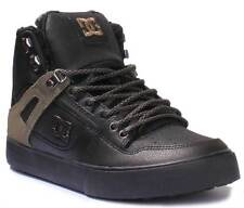 DC Shoes Spartan WC High Men Nubuck Leather Black Hi Top Skate Shoes