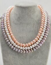 Genuine 7-12 mm Freshwater Pearl Necklace Choker Direct From Pearls Farm