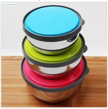 Food Storage Lids Containers Sets Mixing Bowls, Bright Colors Silicone Lids