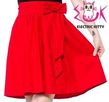 Sourpuss Swing Skirt Red Circle Bow Poodle Jive Vintage Pin Up Rockabilly NEW