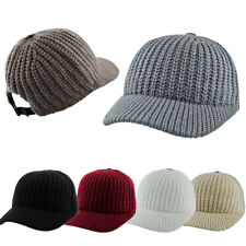 Womens Mens Winter Warm Knitting Hat Mens Hat Knitting Wool Wide Brim Casquette
