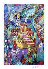 LeRoy Neiman Mardi Gras Parade Hand Signed by LeRoy Neiman