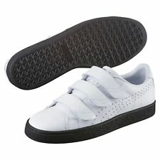 PUMA Basket Classic Strap Black and White Trainers Unisex Low Boot