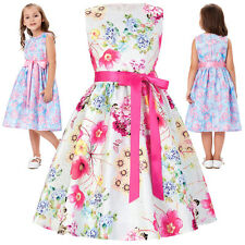Girls Kids Clothes Flower Princess Wedding Party Pageant Fancy Birthday Dress