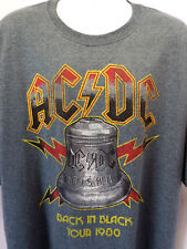 AC-DC BACK IN BLACK 1980 TOUR THROWBACK T-SHIRT SIZES- 3XL-4XL-5XL ACDC- NEW!