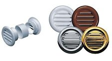 4 x Circle Air Vent Grille Door Round Ventilation Cover White Brown Gold Chrome