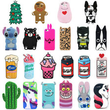 HOT 3D Cute Animal Cartoon Soft Silicone Phone Case Cover Back For Apple iPhone