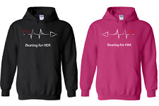 Couple's My Heart Beating For Her & Him - Soul Mate Matching Love Hoodies