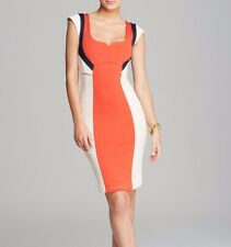 French Connection Colourful Monroe Stretch Colour Block Panel Pencil Dress 8 10