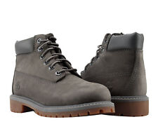 Timberland 6-Inch Premium Waterproof Grey Mono Youth Litte Kids Boots A11CR