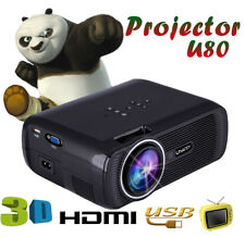 U80 1000lumens 1080PMultimedia Portable HD LED Projector Home Theater projector