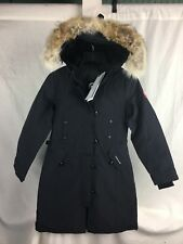 NEW CANADA GOOSE KENSINGTON PARKA NAVY WOMENS 2506L DOWN COYOTE AUTHENTIC