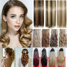 Real as human Hair Clip in Full Head Hair Extensions Natural Hair Piece Ombre CT