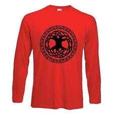 CELTIC TREE OF LIFE LONG SLEEVE T-SHIRT - Pagan Druid Wicca  -  4 Colours