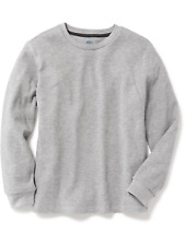 NWT OLD NAVY BOYS WAFFLE THERMAL SHIRT TOP gray    XS (5)