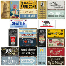 Metal Tin Sign Poster Plaque Bar Pub Tavern Garage Home Plate Wall Decor Art