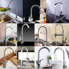 Kitchen Faucet Swivel Spout Pull Down Sprayer Bathroom Sink Mixer Tap Deck Mount