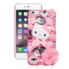 FREE SHIPPING US Seller Cute Hello Kitty Crystal Pearl 3D Case For iPhone Cases