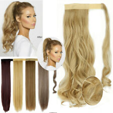 Excellent Hair Wrap Ponytail Clip In Hair Extensions Blonde Brown For Human A85