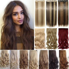 US Real 1PCS Clip In Hair Extensions Hairpiece Hair Extensions As Human Long A85