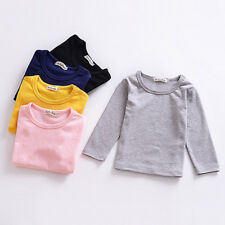 Kids Girl Cute Baby Blouse Clothes Autumn Long Sleeve Cotton T-Shirt Tops