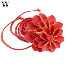 Womail leather women belts Bohemia waist band Vintage Flower Belt Straps For Wom