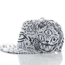 Fashion Vintage Baseball Flat Bill Hat Hippie Eye Hiphop Adjustable Cap Drop Shi