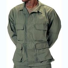 Olive Drab - Military BDU Shirt - Polyester Cotton Twill