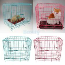 Single-Door Folding Metal Dog Crate Pet Cat Puppy Rabbit Cage Safe House Carrier