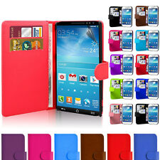 Magnetic Side Wallet Flip Book PU Leather Case Cover For Samsung Galaxy Phones