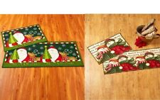 Holiday Rug 2 Pc Set Seasonal Decor Christmas Floor Mat Set Accent Rug & Runner