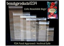 100 PCS CELLO BAGS RESEALABLE Crystal CLEAR 1.5ml POLY Party Favor Bags Jewelry