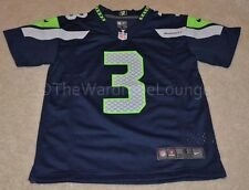 Authentic Seattle SEAHAWKS #3 WILSON NFL Nike Jersey Youth S M L XL Boys Navy