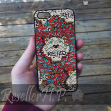 Hott! Red and White Kenzo Tiger Black Marble Case For iPhone 6 7 8 plus Cover