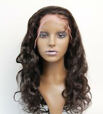 "Full lace Wig Black Indian Hair Wig 10"" 12"" 14"" Womens Wig Body Wave Lace Wig"