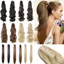 Real Thick Synthetic Tie Jaw Ponytail Clip In Pony Tail Hair Extensions Brown P2