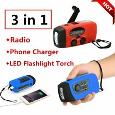 Hand Crank Generator Wind Up Solar Rechargeable Light AM/FM/PM Charger Lot FE