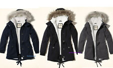 NEW Hollister by Abercrombie Women Stretch Cozy-Lined Parka Jacket, S-M-L-XL
