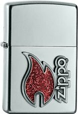 Zippo Red Flame Red Flame Petrol sturmfzg with or Without Gift Set 60000439
