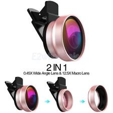 For iPhone Camera Lens: Macro Lens & Wide Angle Lens Kit, Clip-On Cell Phone