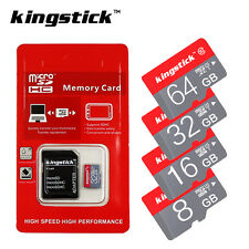 KINGSTICK Micro SD Memory Card SDHC/SDXC 16GB 32GB 64GB Class10 Free Adapter