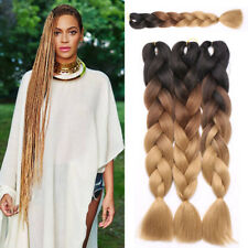 US Crochet Box Braids Hair Extensions 100 pcs Synthetic Ombre Braiding Hair AP